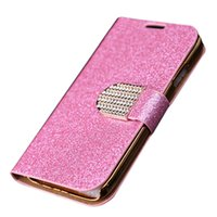 Wholesale Diamond Case For Galaxy S4 - S5Q For Samsung Galaxy S4 I9500 Luxury Diamond PU Wallet Leather Case Protectors AAAELZ