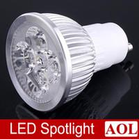 Wholesale Led Mr16 Base - 10pcs lot 4W LED Spotlight GU10 MR16 E27 E14 GU5.3 Base Type choice LED Light Lamp Bulb warm white, white Energy Saving Light downlight