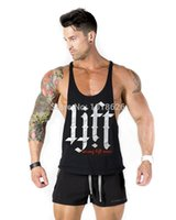 Wholesale Mens Strong - Wholesale-Sell like hot cakes STRONG LIFT WEAR Mens 'PLATINUM'Tank Tops,Sport,Gym,100% cotton,high quality,M-XXL