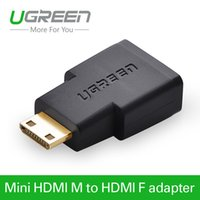 Wholesale Gold Hifi Connectors - Ugreen HDMI female TO Mini HDMI Adapter converter gold plated connector HDMI V1.4 Ethernet 1080P 3D hdmi adapter