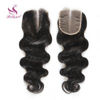 Wholesale Deep Wavy Bleached Lace - 7A Brazilian Malaysian Peruvian Cambodian Indian Virgin Human Hair Closure Brazilian Body Wave Wavy Top Lace Closures Bleach Knots 4*4 Size