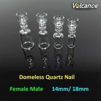 Wholesale nail materials online - Best Design mm Domeless Quartz Nail Real Quartz Material mm mm Female Male Joint Quartz Domeless Nails For Oil Rigs Glass Bongs