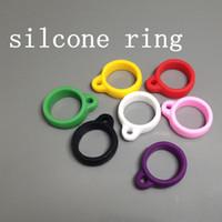 e anel de segurança venda por atacado-Anel da colar do silicone da correia do ego para o anel da correia da bateria do evod da correia do evod da eGo multi anel das correias do cig do material e do silicone do anel das cores