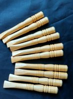 Wholesale Carved Wood Pipes - Wholesale free shipping-----2015 new 100pcs wood color mini straight pipe, natural wood carving, length 10cm, environmentally friendly mater