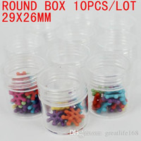 Wholesale Small Medicine Storage - small round bottle storage box 10pcs lot tool box perfect for tool fishing medicine beauty storage use Free shipping 29x26mm