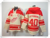 ICE Hockey Hoodies Jerseys Wings # 40 Zetterberg 13 Datsyuk CAMO Beste Qualität Nähte Jerseys Sport Hockey Trikot Mix Order