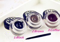 Wholesale Love Alpha Eyeliner Gel - Wholesale-3 colors gel eyeliner Brand Love alpha Waterproof to eye cosmetic with liquid eyeliner pencil brush makeup