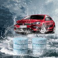 araba ön cam yıkayıcı toptan satış-6 Adet / grup Araba Cam Kompakt Cam Yıkama Temiz Temizleyici Efervesan Tabletler Deterjan Katı Silecek Anında Cam Yıkayıcı