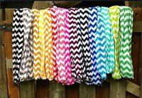 Wholesale Chevron Polyester Infinity Scarf - Fashion New High quality Wave Chevron Infinity Scarf Women an19 Colors Girl Chevron Wave Print Infinity Scarves Zigzag Kids Scarf Circle Loo