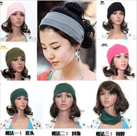 Date Crochet Bandeau Knit Hairband Chapeaux Bonbons Wide Color Cotton Bandeau Yoga Bandeau élastique gros femmes Hairband 50PCS gratuit