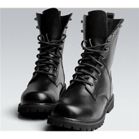 Wholesale White Combat Boots - US Size 5.5-10 New Black Combat Leather Lace Up Mens Military Ankle Boots Shoes