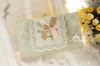 cartões de convites vermelhos venda por atacado-2015 Best Seller casamento formal convite cartão com arco vermelho marfim frete grátis criativo Bauquet jantar convite cartões nova chegada