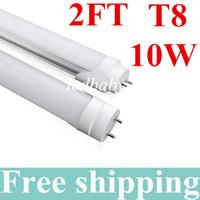 lámparas fluorescentes led t8 al por mayor-10W 0.6mT8 Tubo de luz LED 2 pies 85-265V CA 3000-6500K Tubo de luz LED Bombilla Lámpara Tubo fluorescente SMD2835 Blanco frío / cálido