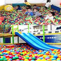 ingrosso palle dell'oceano di plastica-M89 Spedizione gratuita 100 pezzi Colorful Ball Fun Ball Plastica morbida Ocean Ball Baby Kid Toy Swim Pit Toy