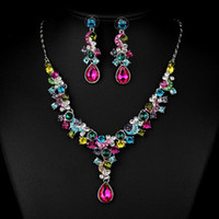 Wholesale Set Xt - Free Shipping fashion new 2016 Pretty Statement Jewelry Sets Rhinestone 18k Gold Plated collar Necklace Earring Fashion Jewelry XT-3619