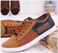 Wholesale Mens Plimsolls - 2014 new arrival plimsolls canvas shoes men breathable Fashion patchwork mens sneakers lace-up platform casual gumshoe