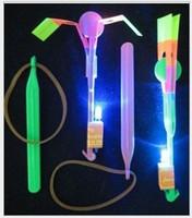 Wholesale Kids Umbrella Boy - 2015 Children Boys Girls Gifts LED Amazing Arrow Flying Helicopter Umbrella Kids Toys Space UFO LED Lighted Toys Flash Toy 100PCS K3821