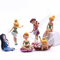 Wholesale Genius Home - 6pcs lot Tinker Bell Genius Elf Angle Figures Fairy Resin Craft Home Jardin Miniature Terrarium Landscape Garden Elfs Decor Tool Accessories