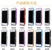Wholesale Iphone Aluminium Metal Bumper - For iPhone5s Arc Luxury Slim Thin Double Color Case Cover Aluminium Alloy Metal Bumper Frame For iPhone 4s iphone 5s