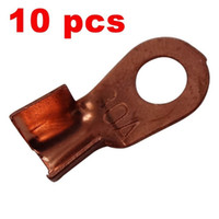 Wholesale Connector Motorcycle - 10 x Copper Lug Battery Cable Connector Terminal Jointing Sleeve 30A Ring Tongue