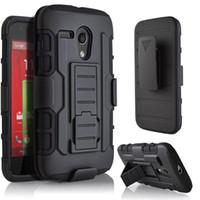 moto g g3 toptan satış-Gelecek Zırh Etki Hibrid Sert Telefon Kılıfı Kapak Ile Kemer Klip Kılıf Kickstand Motorola MOTO G G2 G3 X X2 için Standı