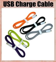 Wholesale Wholesale Flat Magnet - Magnet flat noodle cable universal v8 micro usb cable sync cord charging data cable line for s3 s4 s5 note3 4 HTC 5s v8 lenevo CAB010