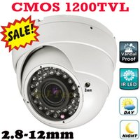 Wholesale Dome Security Camera Digital Zoom - Best Quality 1200TVL color ccd vari focal zoom lens indoor dome camera vandal proof security surveillance digital video cctv camera IR CUT