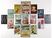 Wholesale New Arrive Cake Dessert CAFE BAR Kitchen TIN SIGN Wall Metal Painting Vintage Retro Poster Home Decor Art Wall Decoration