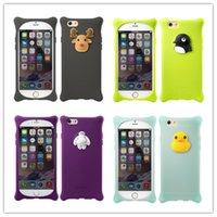 Wholesale Bubble Bag Iphone - New Cute 3D Cartoon Soft Rubber Sicione case Anti- knock Bone Bubble case cover for iphone7 7plus 6 6splus 5S Phone Bags & Cases