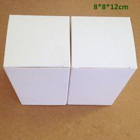 Wholesale Cardboard Tea Box - Wholesale 100Pcs Lot 8*8*12cm White Cardboard Paper Box Gift Packaging Box for Jewelry Ornaments Perfume Cosmetic Bottle Wedding Candy Tea