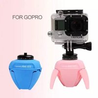 Wholesale Iphone Gopro - 360 Rk 03 Degreemini Robot Panorama Camera Wifi Remote Cell Phone Tripods Selfie Stand Robot for Gopro Camera Adapterfor IPhone Elf Pole