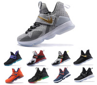 Wholesale Sound Shoes - New More LeBROn 14,RED WHITE ALL BLACK Mint Green lebron shoes,lots of colors to LeBRons choose