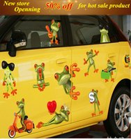 Wholesale Transparent Wall Stickers Children - Cute Frog Wall stickers PVC transparent fine children room decoration wall sticker for Living Room Bedroom Background