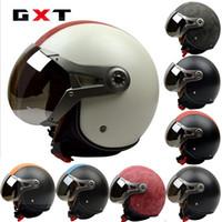Wholesale Bicycles Vintage Style - GXT motorcycle helmet electric bicycle helmet half face helmet Air Force Vintage G-288 Harley style helmets made of ABS SIZE L XL