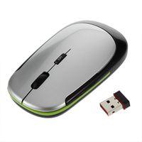 drop ship mouse wireless achat en gros de-2.4GHz USB Récepteur Mince Mini Sans Fil Souris Optique Souris pour Ordinateur Portable PC Drop Shipping En Gros