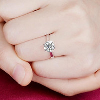 Wholesale Wholesale Real Gold Diamond Jewelry - Real 925 Sterling Silver Sapphire Ring Pink Wedding Engagement Zirconia Finger anel CZ Diamond for Women Jewelry Pure 100% Charming Jewelry