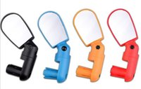 Wholesale Small Adjustable Mirrors - 4 Colors! Adjustable MTB Bike Bicycle Cycling Rearview Mirror Glass Mini Small Handlebar Bar Accessories for outdoors cycling bicycle parts