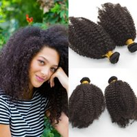 Wholesale Cheap Human Hair Weave 6pcs - 6pcs afro kinky curly Hair weaving Brazilian bundles unprocessed curl human virgin hair weave cheap CURLY HAIR weave fast delivery G-EASY