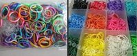 Wholesale Loom Band Bracelet Pack - Free Shipping, RAINBOW LOOM KIT, Rubber Bands Refills pack 600pcs per pack