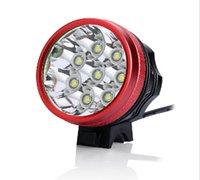 carregador de lanterna led à prova d'água venda por atacado-12000 Lumens 8xCREE XM-L T6 LEVOU Farol 8T6 Farol Bicicleta Lanterna À Prova D 'Água Lanterna + 8.4 V 18650 Bateria + Carregador