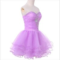Wholesale Watermelon Sweetheart Sequin Prom Dress - Fashionable Real Black Prom Dress Cheap Purple Watermelon Short Evening Gowns Mini Beaded and Sequins Ball Gown Back to School
