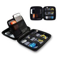 caso móvil al por mayor-Estuche universal de viaje Bolsa de EVA para teléfono móvil Accesorios electrónicos Storge Bolso de mano para banco de energía, teléfono celular Bag013