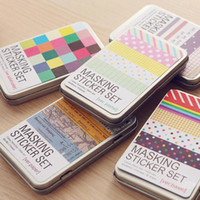 Wholesale Planner Stickers - Wholesale- South Korea Creative Stationery Diy Decorative Stickers Color Hand Books Notepad Loose-leaf Planner Sticker Tide Tin Accessories