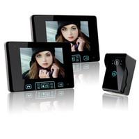 digitalkamera w großhandel-Saful 2,4 GHz 7-Zoll-Digital-Farb-Touchscreen-Video-Tür-Telefon Auto-Videorekorder mit zwei Innen-Monitore und einer Outdoor-Kamera