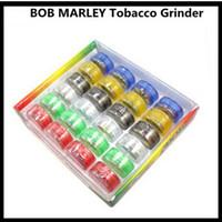 Wholesale Wholesale Smoking Novelties - 1024pcs CCA2281 2015 Novelty BOB MARLEY Plastic Grinder with Magnet for Herbal Tobacco Herbs Smoking Handle Pipe Smoke Crusher Grinder