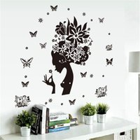 tv arka planı ev toptan satış-Çiçekler peri duvar çıkartmaları tv arka plan odası süslemeleri ev çıkartmaları çıkarılabilir duvar sanatı Düğün Odası Noel Dekorasyon Toptan