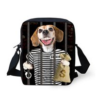 Wholesale Zoo Pets - Special Purpose Bags School Bags Fashion cute pet dog children school bags for teenage boys 3d zoo animal mochila casual messenger bags