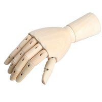 Wholesale Manikin Hand - 18*6cm Wooden Articulated Right Hand Manikin Model Gift Art Alternatives