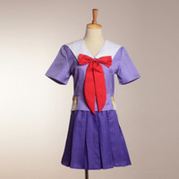 Wholesale Costumes Future - Anime The Future Diary Gasai Yuno Cosplay Mirai Nikki 2nd Costumes Purple School Uniform Set Free Shpping High Quality