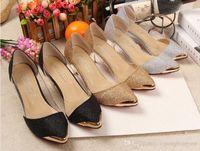 Wholesale Wedding Pumps Cheap - Shoes Women High Heels Kitten Heel Heels Pointed Toe  Pumps Heels Dress Casual Black Golden Silver Fashion Lady Shoes Cheap Wholesale BY0000